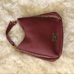 Burgundy Bebe handbag | Colette Chain-Edge bag